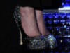 Anne Hathaway in Brian Atwood FIONA Pumps