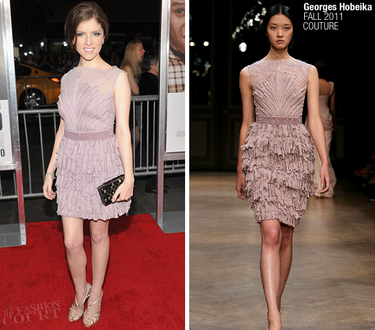 Anna Kendrick in Georges Hobeika | '50/50' NY Premiere