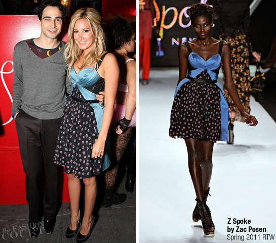 Ashley Tisdale in Z Spoke by Zac Posen | Fashion's Night Out NY