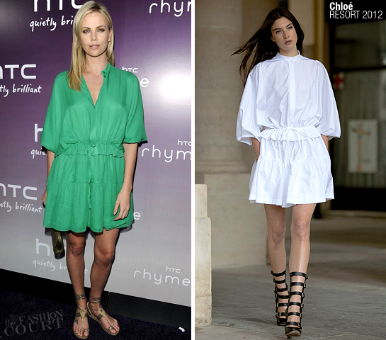 Charlize Theron in Chloé | HTC Serves Up NYC Product Launch