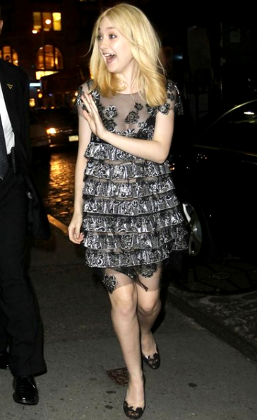 Dakota Fanning in Marc Jacobs | Fashion's Night Out NY