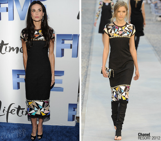 Demi Moore in Chanel | 'Five' NY Screening
