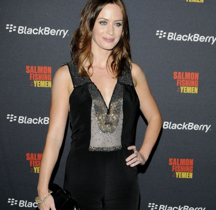 Emily Blunt in Christian Cota | 2011 TIFF Premiere - 'Salmon Fishing in the Yemen'