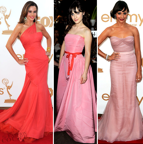 Emmy Awards Fashion: Pretty in Pink... and Coral