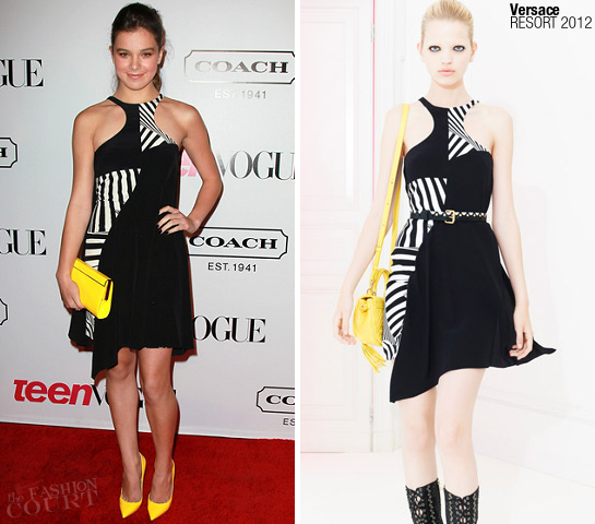 Hailee Steinfeld in Versace | 9th Annual Teen Vogue Young Hollywood Party