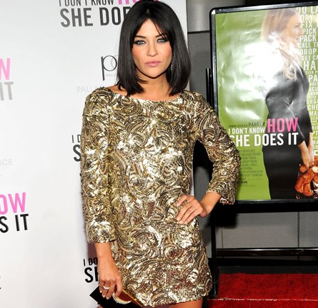 Jessica Szohr in Marchesa | 'I Don't Know How She Does It' Premiere