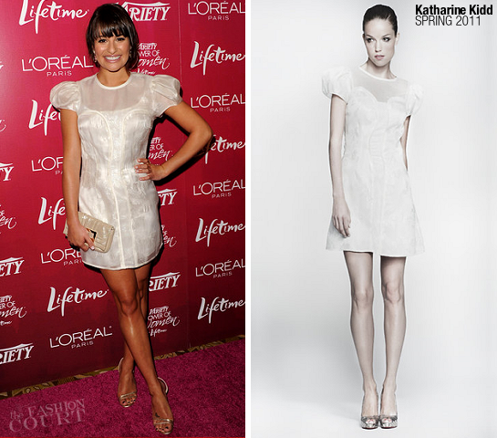 Lea Michele in Katharine Kidd | Variety's Power of Women Luncheon