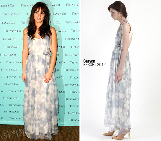 Leighton Meester in Carven | Fashion's Night Out NY