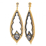 MEUS Designs Pave Diamond Teardrop Earrings