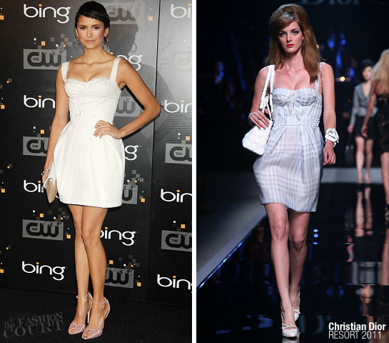 Nina Dobrev in Christian Dior | Bing's CW Launch Party