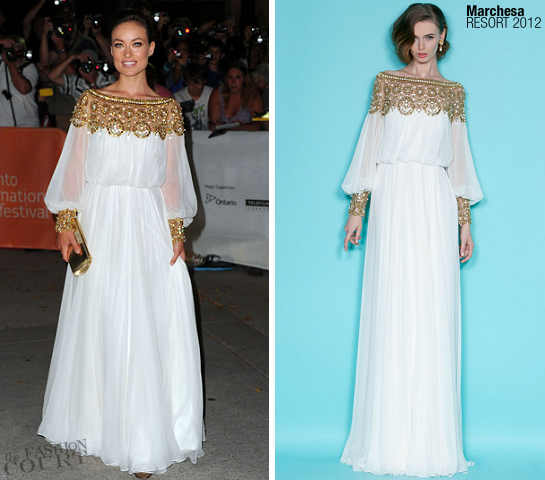 Olivia Wilde in Marchesa | 2011 TIFF Premiere - 'Butter'