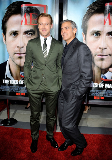 Ryan Gosling in Gucci | 'The Ides of March' Premiere