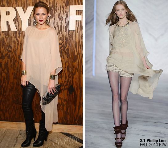 Shantel VanSanten in 3.1 Phillip Lim and Helmut Lang | The Frye Company Flagship Opening Celebration