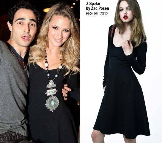 Shantel VanSanten in Z Spoke by Zac Posen | Fashion's Night Out NY