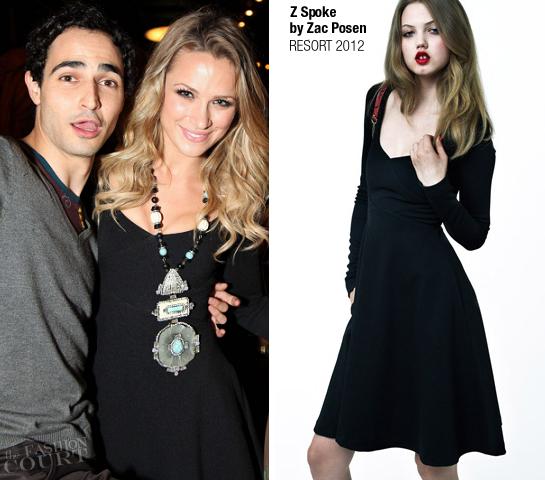 Shantel VanSanten in Z Spoke by Zac Posen | Fashion's Night Out NY