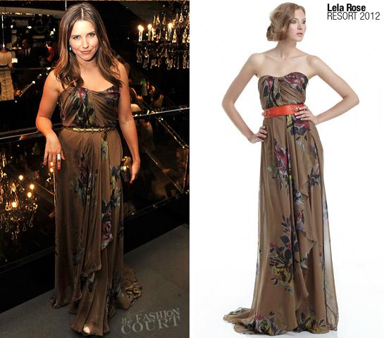Sophia Bush in Lela Rose | Fashion's Night Out NY