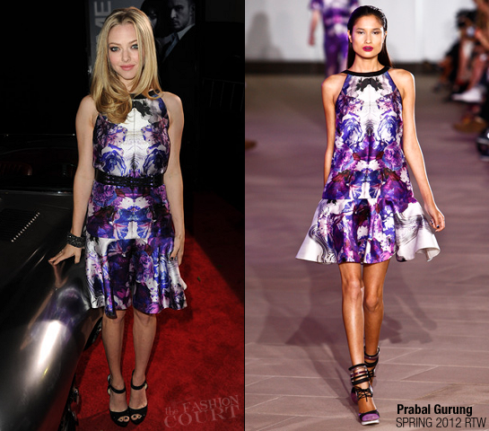 Amanda Seyfried in Prabal Gurung | 'In Time' Premiere