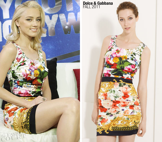 Amber Heard in Dolce & Gabbana | Young Hollywood Studio