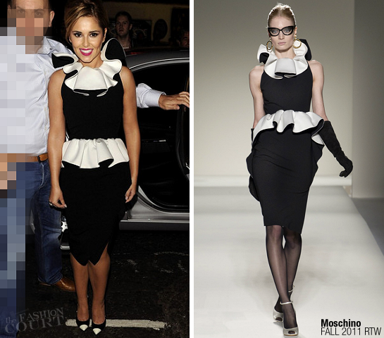 Cheryl Cole in Moschino | West End's Shrek: The Musical