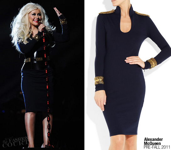 Christina Aguilera in Alexander McQueen | Michael Forever Tribute Concert