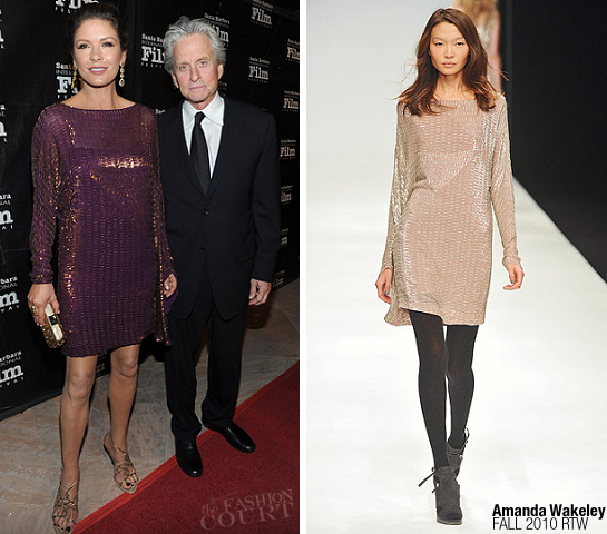 Catherine Zeta-Jones in Amanda Wakeley | SBIFF's 2011 Kirk Douglas Award For Excellence In Film
