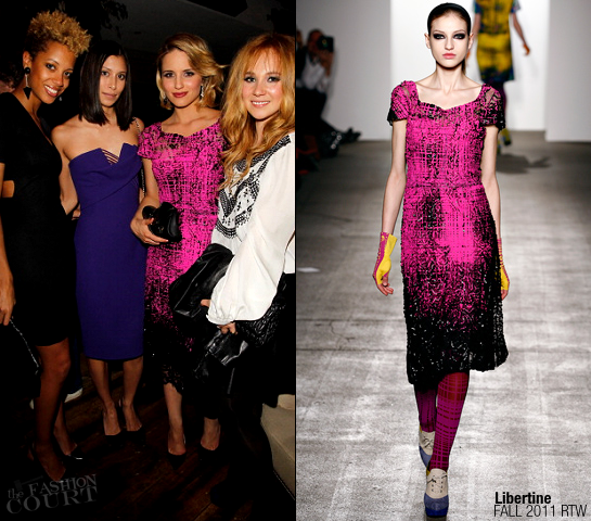 Dianna Agron in Libertine | 2011 CFDA Vogue Fashion Fund After Party