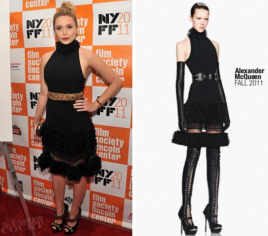 Elizabeth Olsen in Alexander McQueen | 2011 NYFF Premiere - 'Martha Marcy May Marlene'