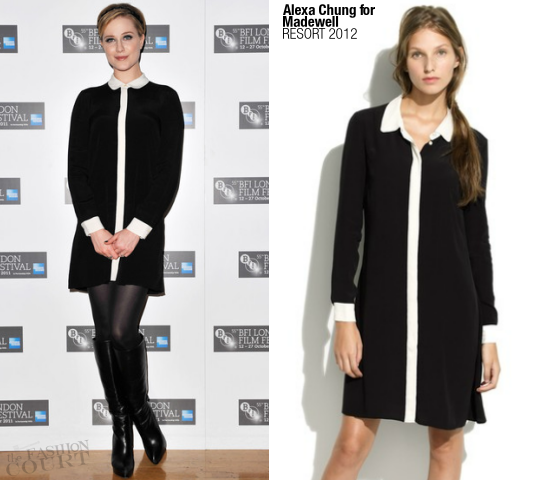 Evan Rachel Wood in Alexa Chung for Madewell | 'The Ides of March' London Film Festival Photocall