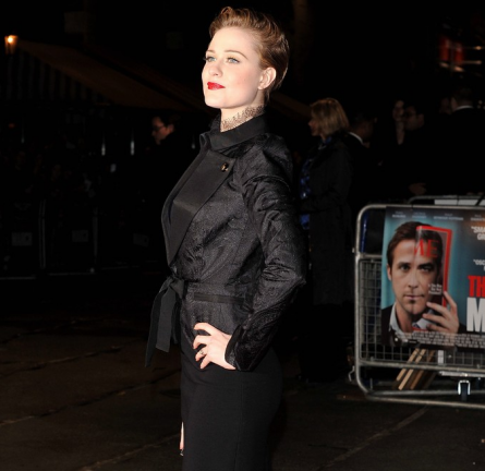 Evan Rachel Wood in Emilio Pucci | 'The Ides of March' London Film Festival Premiere