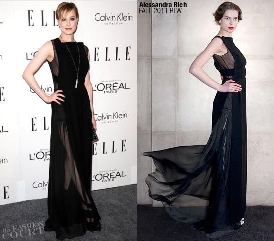 Evan Rachel Wood in Alessandra Rich | ELLE's Women in Hollywood Tribute