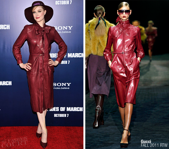 Evan Rachel Wood in Gucci | 'The Ides of March' NY Premiere