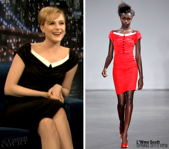 Evan Rachel Wood in L'Wren Scott | 'Late Night with Jimmy Fallon'