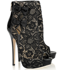 Jimmy Choo 'Kudos' Embroidered Mesh Boots