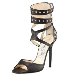 Jimmy Choo Grommet Ankle-Wrap Sandal