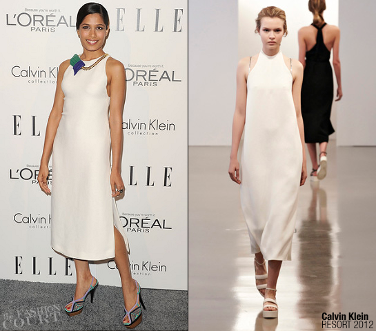 Freida Pinto in Calvin Klein | ELLE's Women in Hollywood Tribute