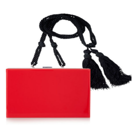 Ralph Lauren Collection Tassel Strap Box Clutch