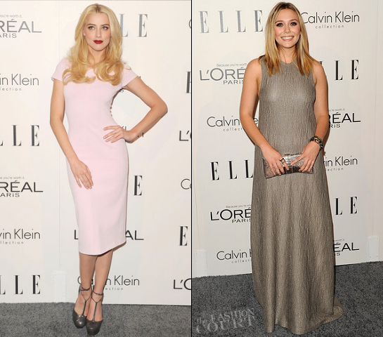 Amber Heard & Elizabeth Olsen at ELLE's 18th Annual Women in Hollywood Tribute