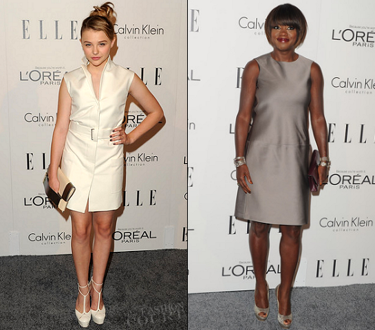 Chloe Moretz & Viola Davis at ELLE's 18th Annual Women in Hollywood Tribute
