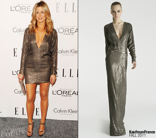 Jennifer Aniston in Kaufmanfranco | ELLE's Women in Hollywood Tribute