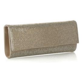 Judith Leiber Crystal-Embellished Fold Clutch