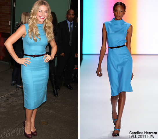 Julianne Hough in Carolina Herrera | 'Good Morning America' in NY