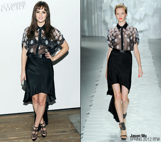 Leighton Meester in Jason Wu | Jimmy Choo Icons Private Dinner