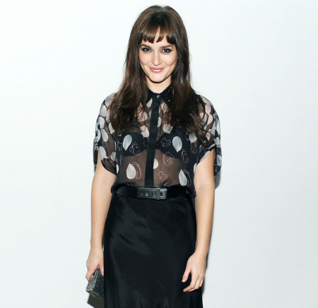 Leighton Meester in Jason Wu   Jimmy Choo Icons Private Dinner
