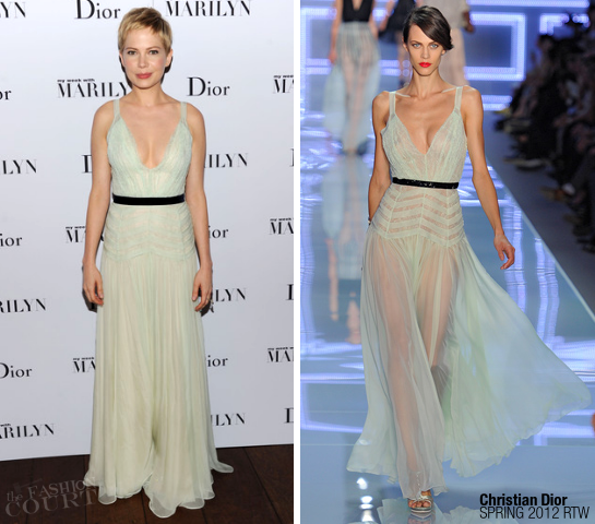 "Michelle Williams in Christian Dior | Dior Hosts ""My Week With Marilyn"" Party"
