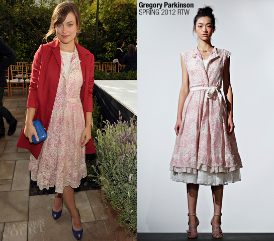 Olivia Wilde in Gregory Parkinson | 2011 CFDA Vogue Fashion Fund