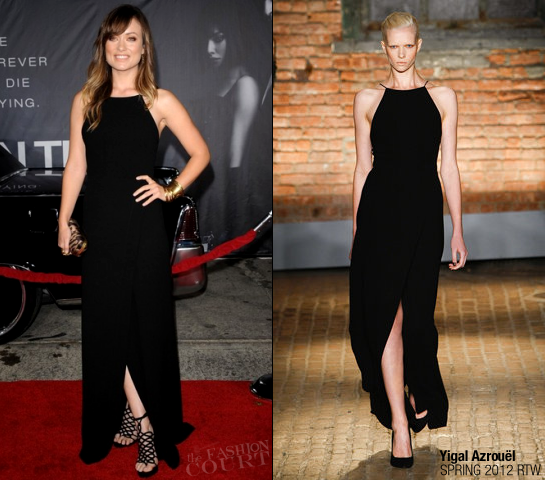 Olivia Wilde in Yigal Azrouël | 'In Time' Premiere