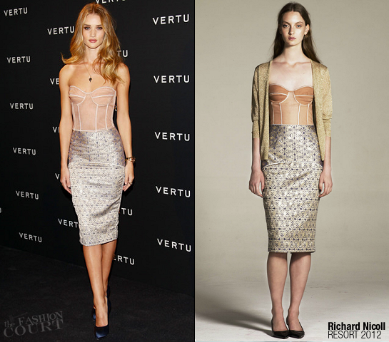 Rosie Huntington-Whiteley in Richard Nicoll | Vertu Global Launch of The 'Constellation' Smartphone