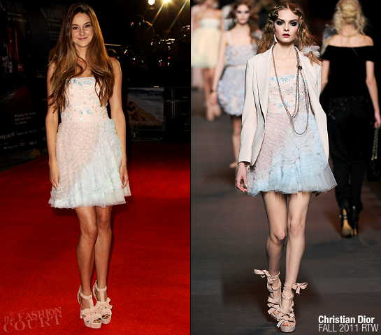 Shailene Woodley in Christian Dior | 'The Descendants' London Film Festival Premiere