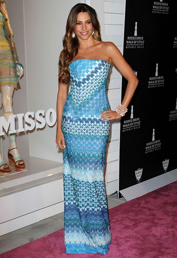 Sofia Vergara in Missoni | Beverly Hills Rodeo Drive Walk of Style