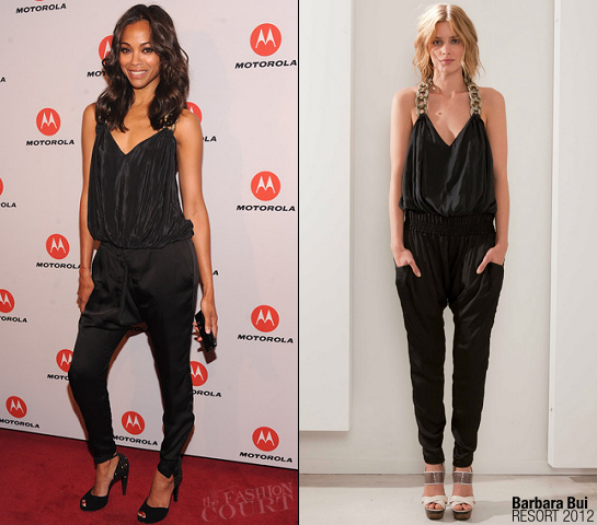 Zoe Saldana in Barbara Bui | Droid Razr and Motoactv by Motorola Launch Party
